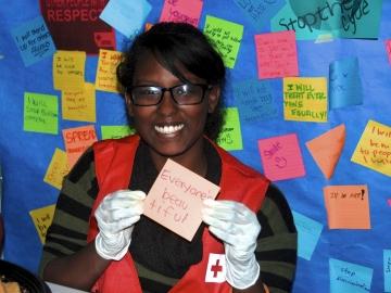 Asmaite Gebremichael, Beyond the Hurt Youth Facilitator, thinks everyone is beautiful.