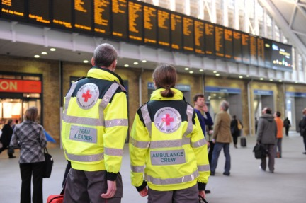 British Red Cross offers first aid during Olympic Games