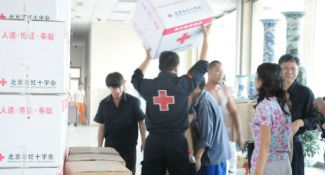 Chinese Red Cross responds to flooding