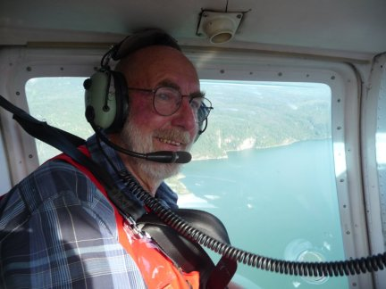 Volunteer Rick Smith on his way to meet with residents impacted by landslides