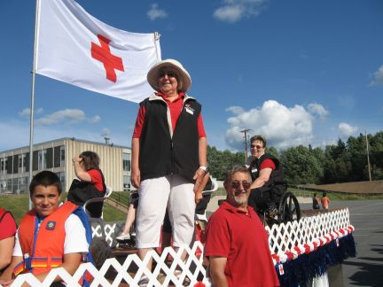 Red Cross float in Bridgewater parade