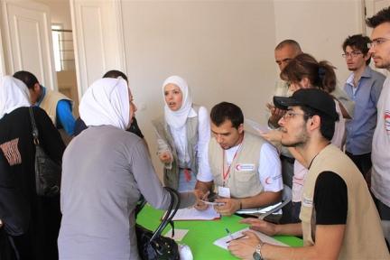 Syrian Arab Red Crescent in Aleppo