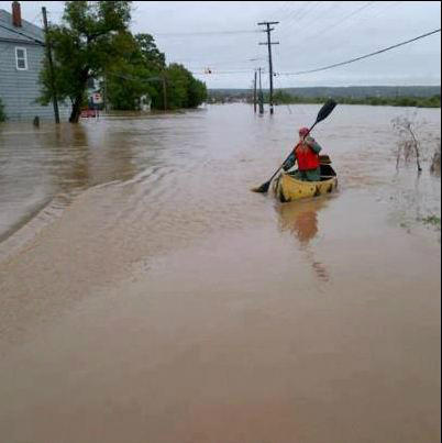 Canoeing by Highway 311