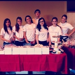 Students organize a bake sale to raise funds for the Red Cross Cold Campout