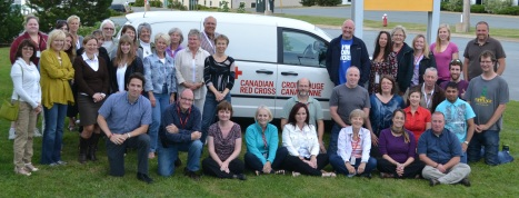 Volunteers from the Central District Emergency Response Team in Nova Scotia